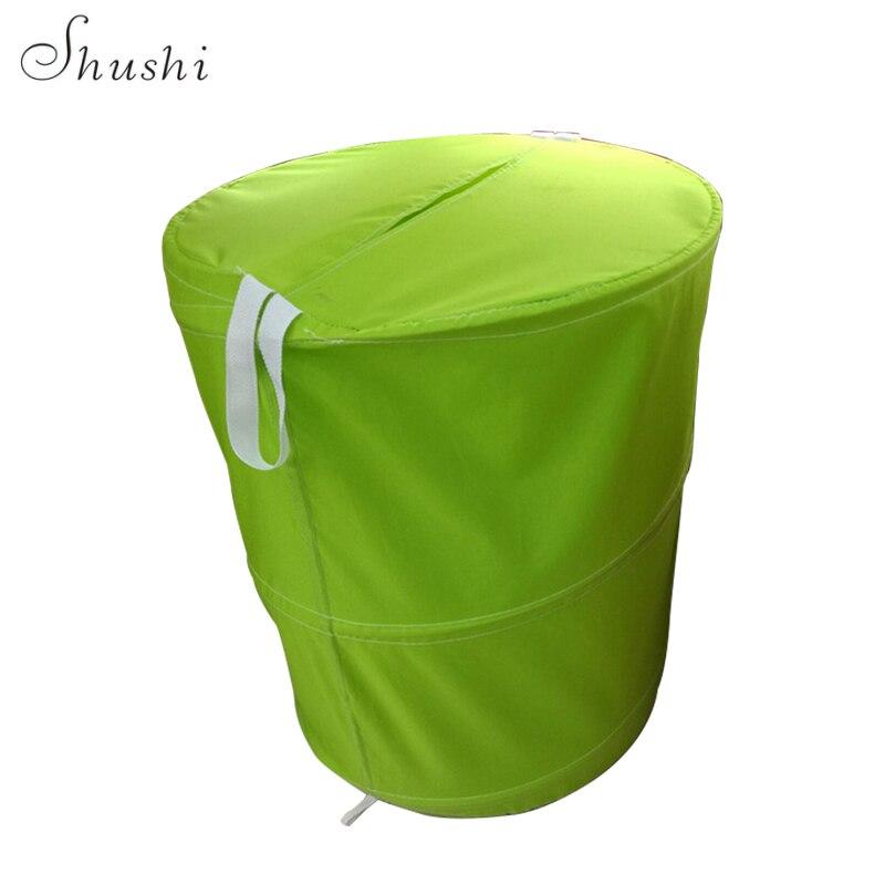 Shushi Laundry Barrel With Fabric Handle Pop-up Dirty Clothes Laundry Hamper Large Drum Laundry Bags Foldable Laundry Basket