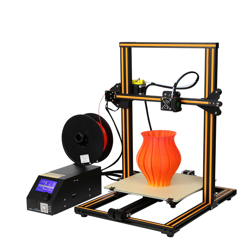 DIY 3D Printer 400*400*400mm Portable Desktop Industrial Grade Workbench 3D Printer High Precision 0.1mm FDM PLA Easy Assemble rq cr 10 3d printer large printing size 300 300 400mm diy desktop 3d printer diy kit filament with heated bed 200g material