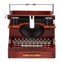 Music-Box Toy-Decoration Typewriter Wood Wedding-Gift Classic Birthday Metal Antique