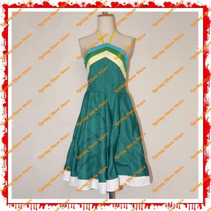 Rozprávkový chvost Wendy Marvell Cosplay kostým hluboké zelené šaty na zakázku