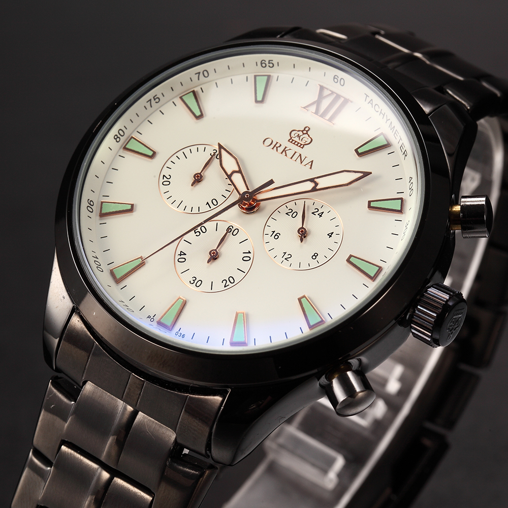 MG ORKINA horloge Homme japon Mov't Montre Homme Quartz Sport Montre bracelet chronographe chronomètre affichage 24 heures relogio esportivo