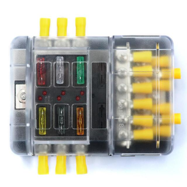 6P fuse box +12P negative bus line Bus Bar (screw) vehicle ship with