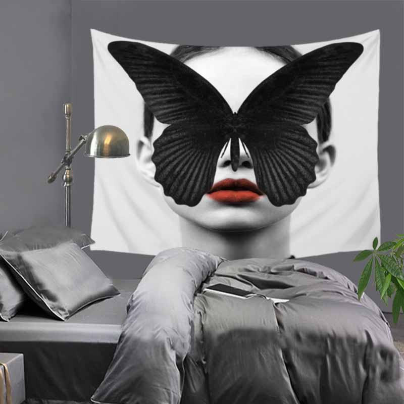 Творческий Портрет Граффити Стиль Гобелен Полиэстер размер 150x130 см Пляжный Одеяло Комната