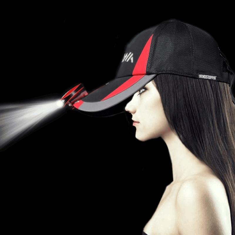 AKDSteel inducción infrarroja inteligente Cap sombrero deportes al aire libre para adultos USB 3 LED