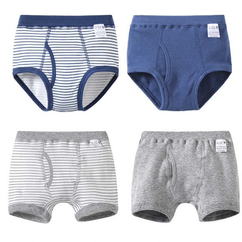 2d620c97b648 4 Pcs/Lot Kids Boys Briefs and Boxers Set Soft Organic Cotton Children's  Boxer Shorts