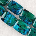 "13X18mm Square Azurite Chrysocolla Jaspers Loose Beads Jewelry Jade Semi-Precious Stone 15""Wholesale Price"