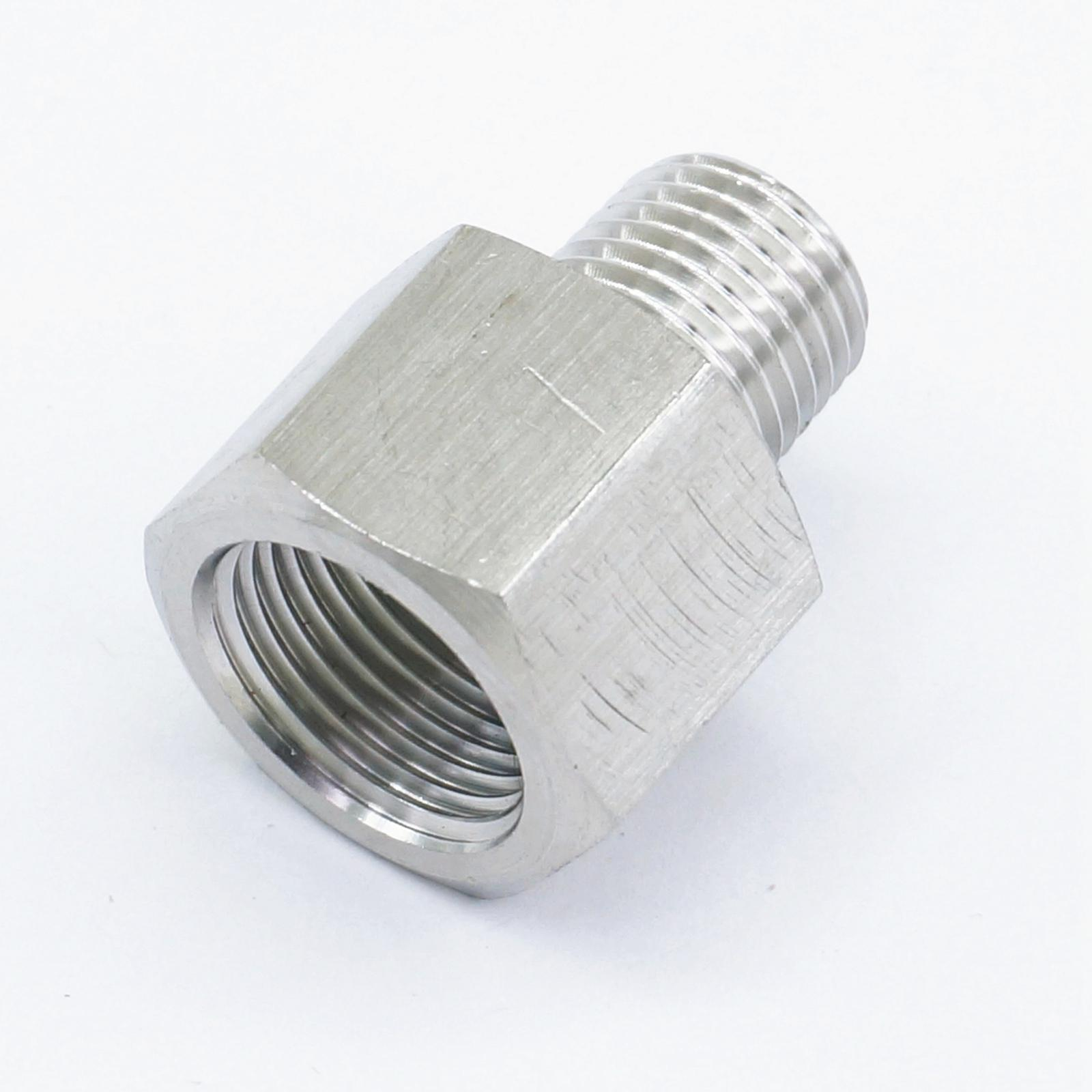"1//4/"" Male x1//8/"" Female BSPT HEX REDUCING BUSH 304 STAINLESS STEEL PIPE FITTINGS"