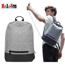 HeloFrn Korean Casual Men Backpack Canvas Male Female Bag Laptop School Backpack For Teenager Bag Student USB Charging Mochila стоимость