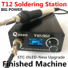 Quick Heating T12 soldering station electronic welding iron 2018 New version STC T12 OLED Digital Soldering Iron T12-952 QUICKO 1