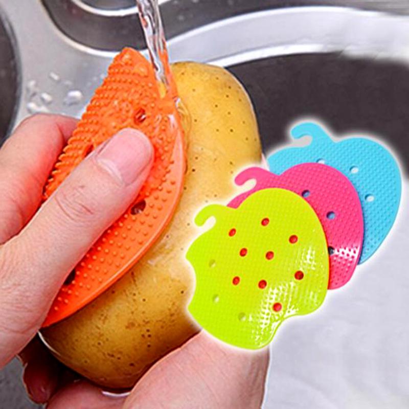 utensilios de cocina fcil limpieza cepillo scrubber cepillos vegetales patata zanahoria pelado hogar aparatos de