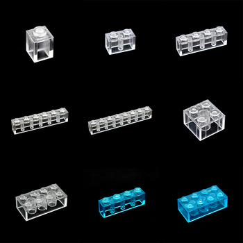100g/lot building blocks Transparent series enlighten bricks Compatible with other Early education training toys for children enlighten 1714 627pcs city military command bomber building blocks classic enlighten figure toys for children compatible gifts