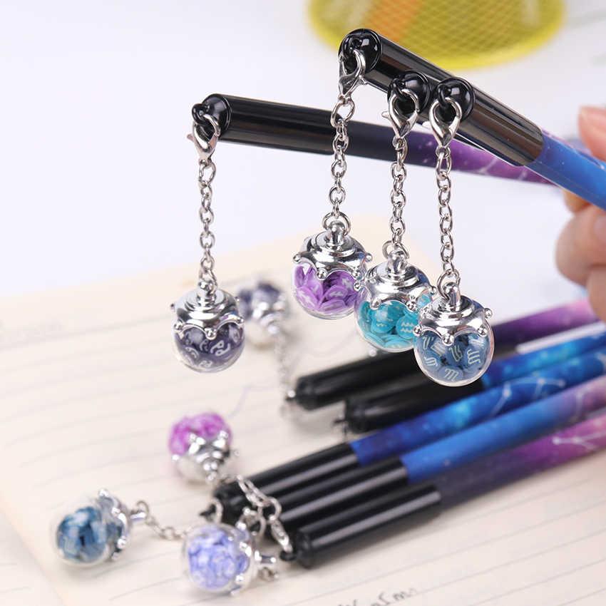 1PC 0.5mm Starry Sky Constellations Gel Pen Ink Marker Pen School Office Supply Escolar Papelaria Office Signature Pen