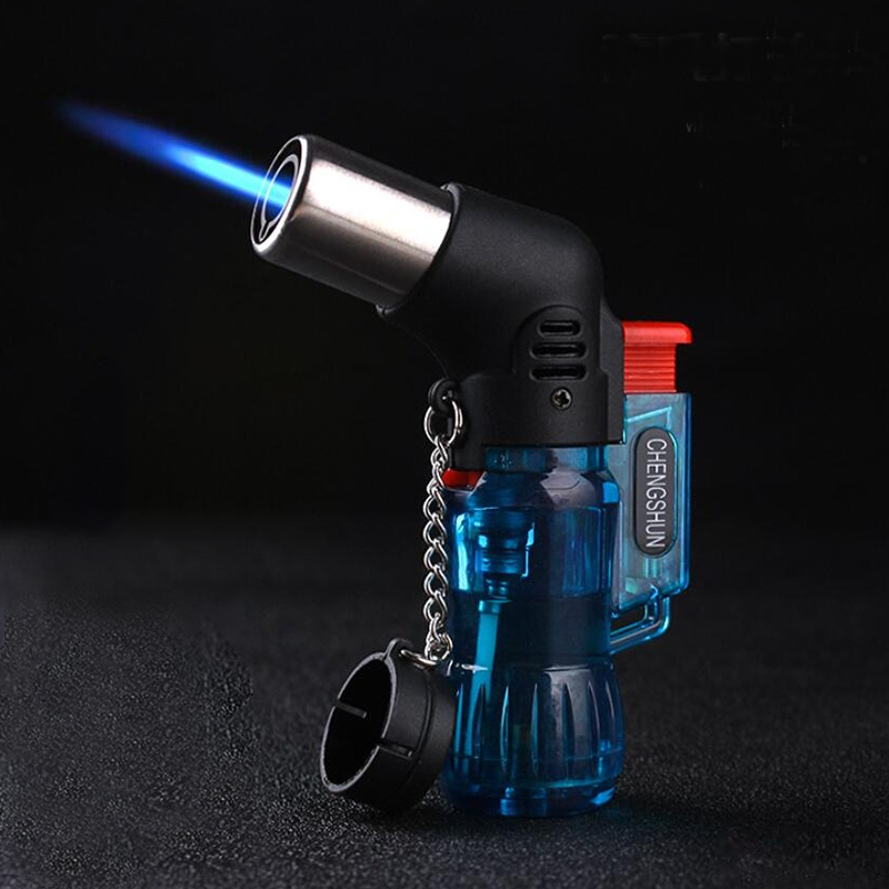 Outdoor BBQ Lighter Cigar Torch Turbo Lighter Jet Butane Gas Cigarette 1300 C Spray Gun Windproof Metal Pipe Lighter For KitchenOutdoor BBQ Lighter Cigar Torch Turbo Lighter Jet Butane Gas Cigarette 1300 C Spray Gun Windproof Metal Pipe Lighter For Kitchen