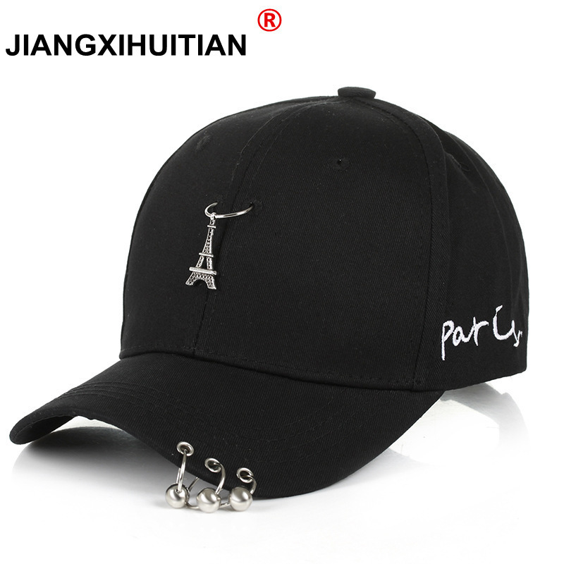 2018 Hot Selling Bigbang Fashion KPOP Iron Ring Ball Hats Adjustable youth embroidery   Baseball     Cap   free shipping