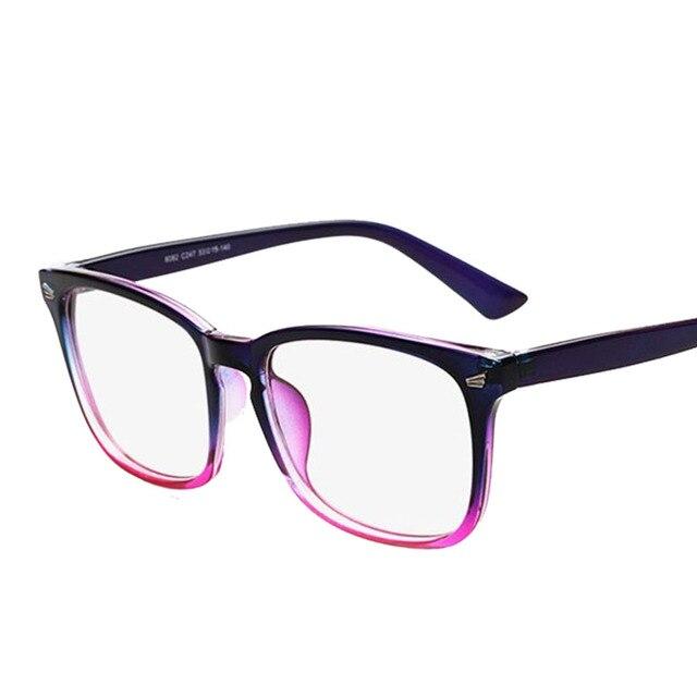 Marca diseñador espejo óptico gafas marco Anti radiación ordenador ...