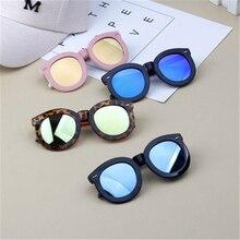 Детские винтажные стильные солнцезащитные очки детские очки для маленьких мальчиков и девочек праздничные очки для путешествий большая круглая заклепка Oculos UV400