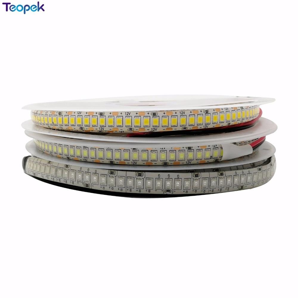 LED Strip 2835 240 LEDs/m DC12V High Brightness 1200 LED Single Row Flexible LED Light Warm White / White RGB 5m/lot