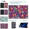 Ultra Thin Slim PU Leather Clover Flowers Protective Cover Flip Smart Case For Huawei Honor WaterPlay