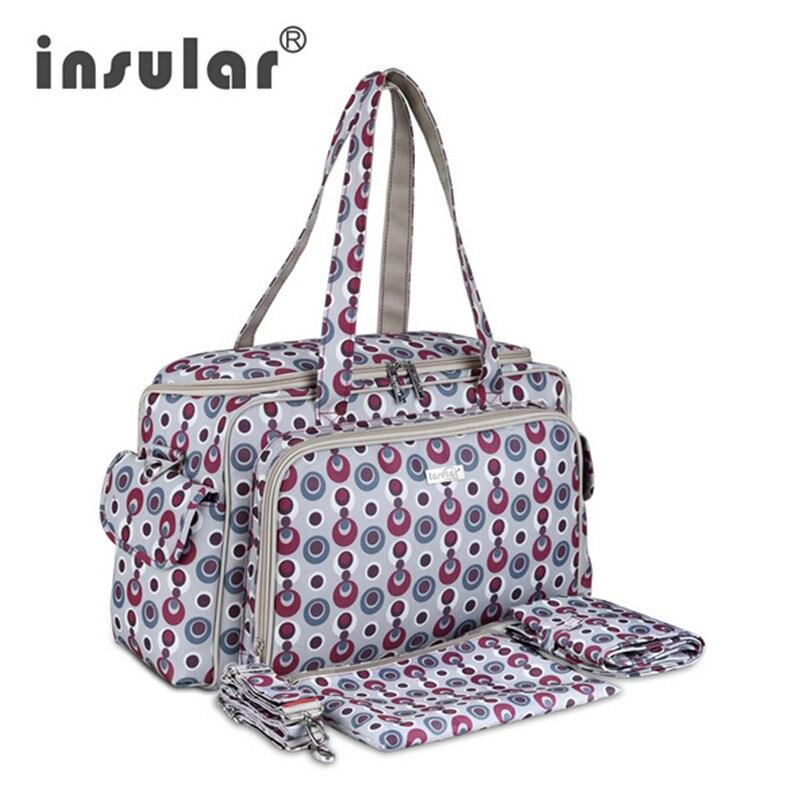 ФОТО Insular Elegant Baby Diaper Bag Nappy nursing Bags Multifunctional fashion large capacity Changing Bags Women Tote stroller Bag