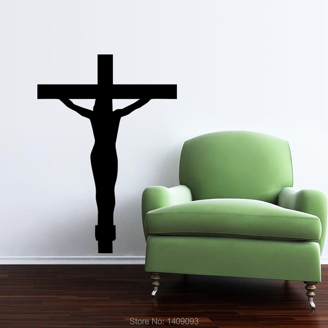 Christ Jesus Cross Vinyl Sticker Home Decor Living Room Bedroom Wall Art Murals Christian Wall