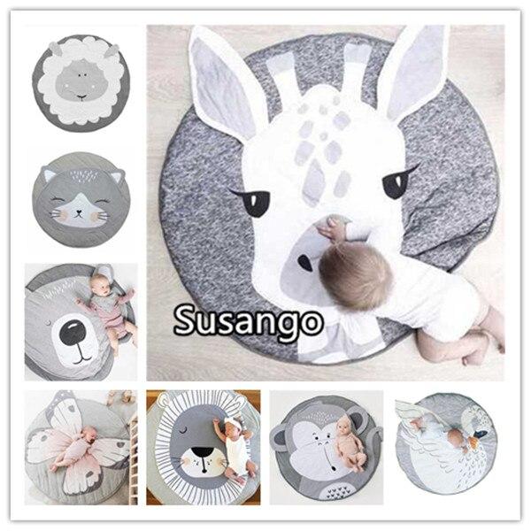 Animal Unicorn Climbing Mat Creeping Blanket Baby Bed Sofa Play Kids Floor INS Toddler Cover Developing Toy Carpet Lapin Cushion