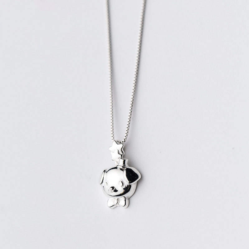 Cute Dog Year Of Fate 925 Silver Pendant