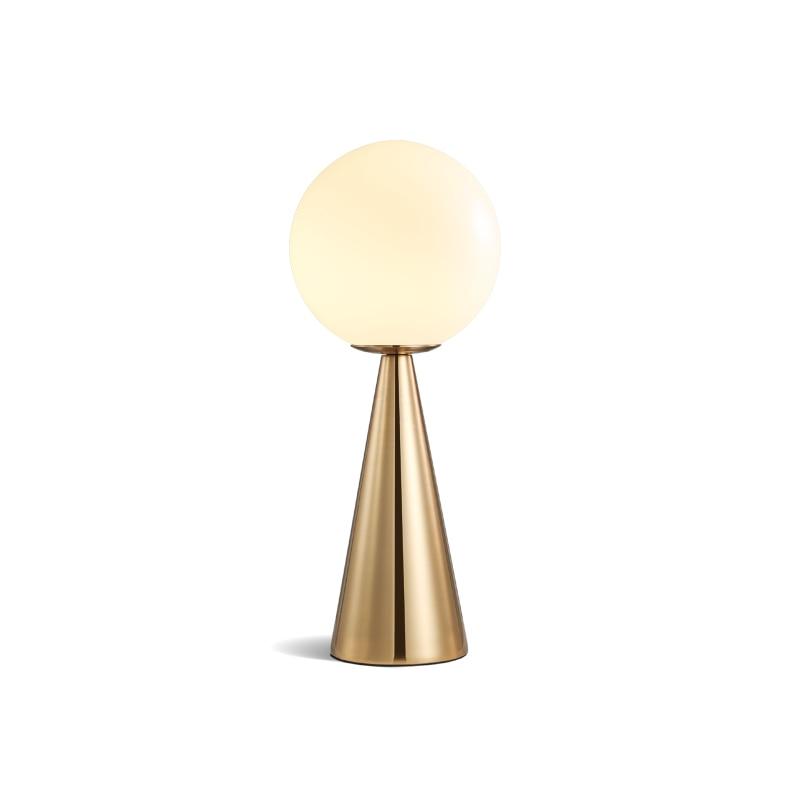 Modern nordic Glass ball table lights Retro Vintage desk Lamp Loft for bedroom beside lamp gold Simple Table Fixtures Lightings