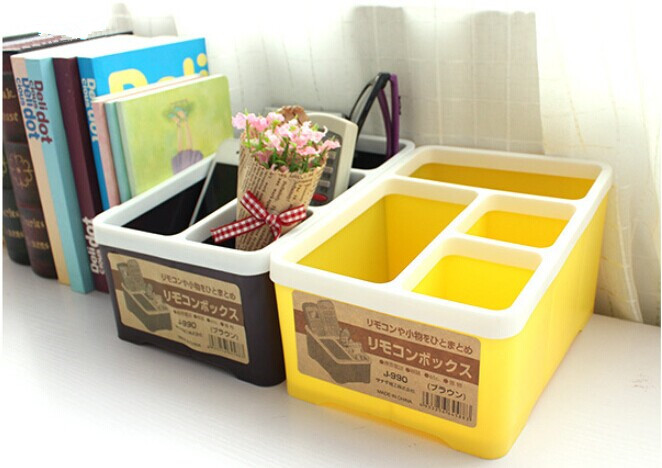 1PC Japanese Candy Color Desktop Receiving Box Multipurpose Storage Box Remote Control Container OK 0059