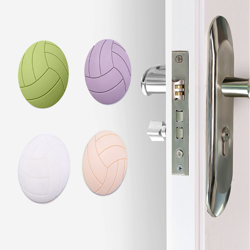 Soft Rubber Pads To Protect The Wall & Floor Self Adhesive Door Stopper Volleyball Styling Door Fender Non-slip Stickers