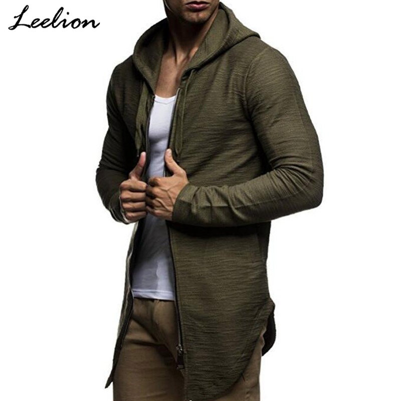IceLion 2018 New Spring Hoodies Men Zipper Cardigan Cotton Sweatshirts Hip Hop Streetwear Fashion Solid Male Slim Fit Sportswear