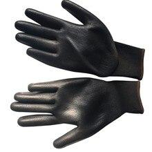 Черный нейлон ПУ безопасности садовые перчатки строительные рукавицы с захватом для пальмового покрытия перчатки маслостойкие и износостойкие анти-резки рабочие перчатки