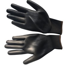 Black Nylon PU Safety Garden Glove Builders Grip For Palm Coating Gloves Oil-proof and Wear-resistant Anti-cutting Work Gloves(China)