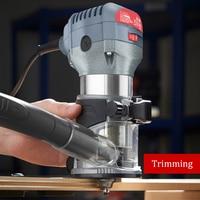 220 v 600 w ferramentas elétricas da máquina de aparamento do woodworking multi-função casa decoração gravura fresagem de madeira diy alta slot máquina