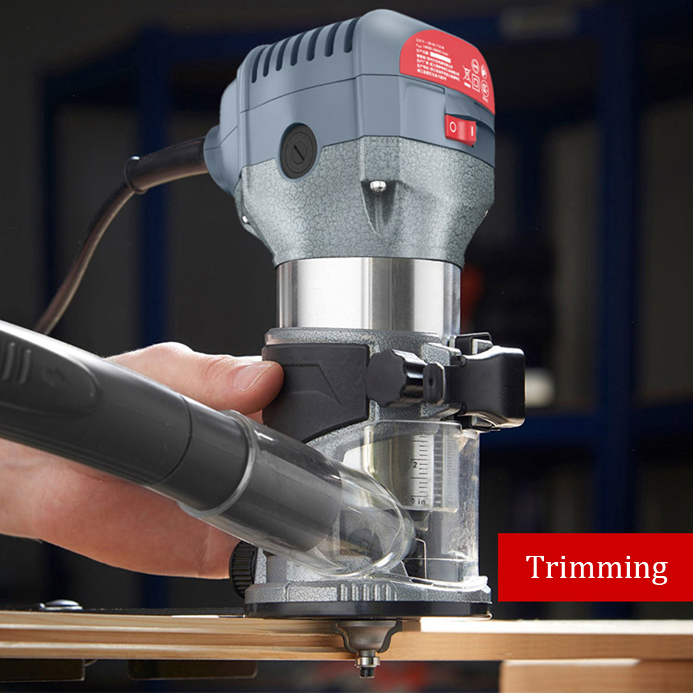 220V 600W Woodworking Trimming Machine Power Tools Multi-function Home Decoration Engraving Wood Milling DIY High Slot Machine