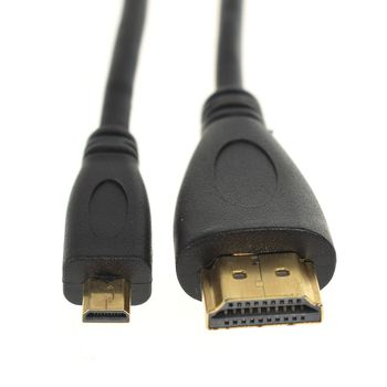 1.4 Version Gold Plated Micro HDMI to HDMI Cable 3D 1080P Male-Male  For Go-Pro Hero 3 3+ 4 Hero4 GO PRO HD 4K 2M 5M AU 1080p gold plated hdmi v1 3 male to male cable black 1 5m
