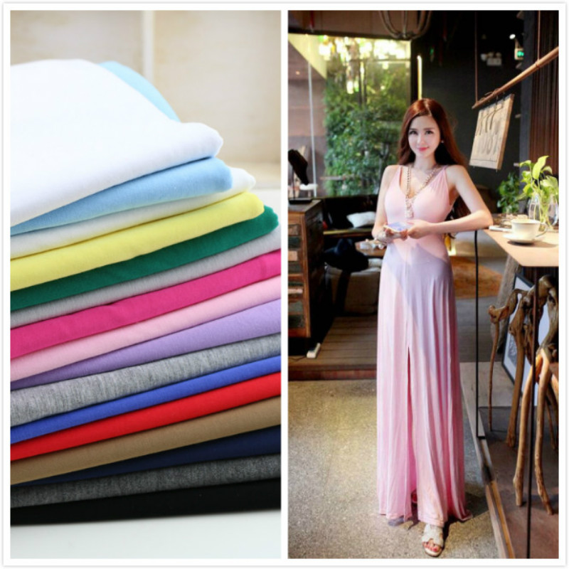 Modal Knitting Fabric Elastic Summer Jersey Dress Fabric