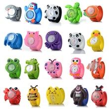 3D Cartoon watch 16 kinds of Animal Milk Dad Cute Children clock Baby kid Quartz Wrist Watches for Girls Boys P10.