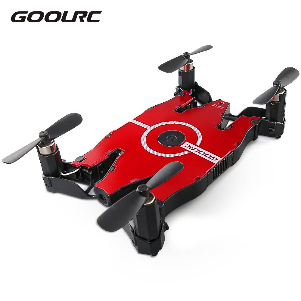 GoolRC Quadcopter 6-Axis Gyro WIFI FPV HD Camera Drone Foldable Drone RC Selfie Pocket Mini Dron RTF Quadcopter Helicopter Gifts