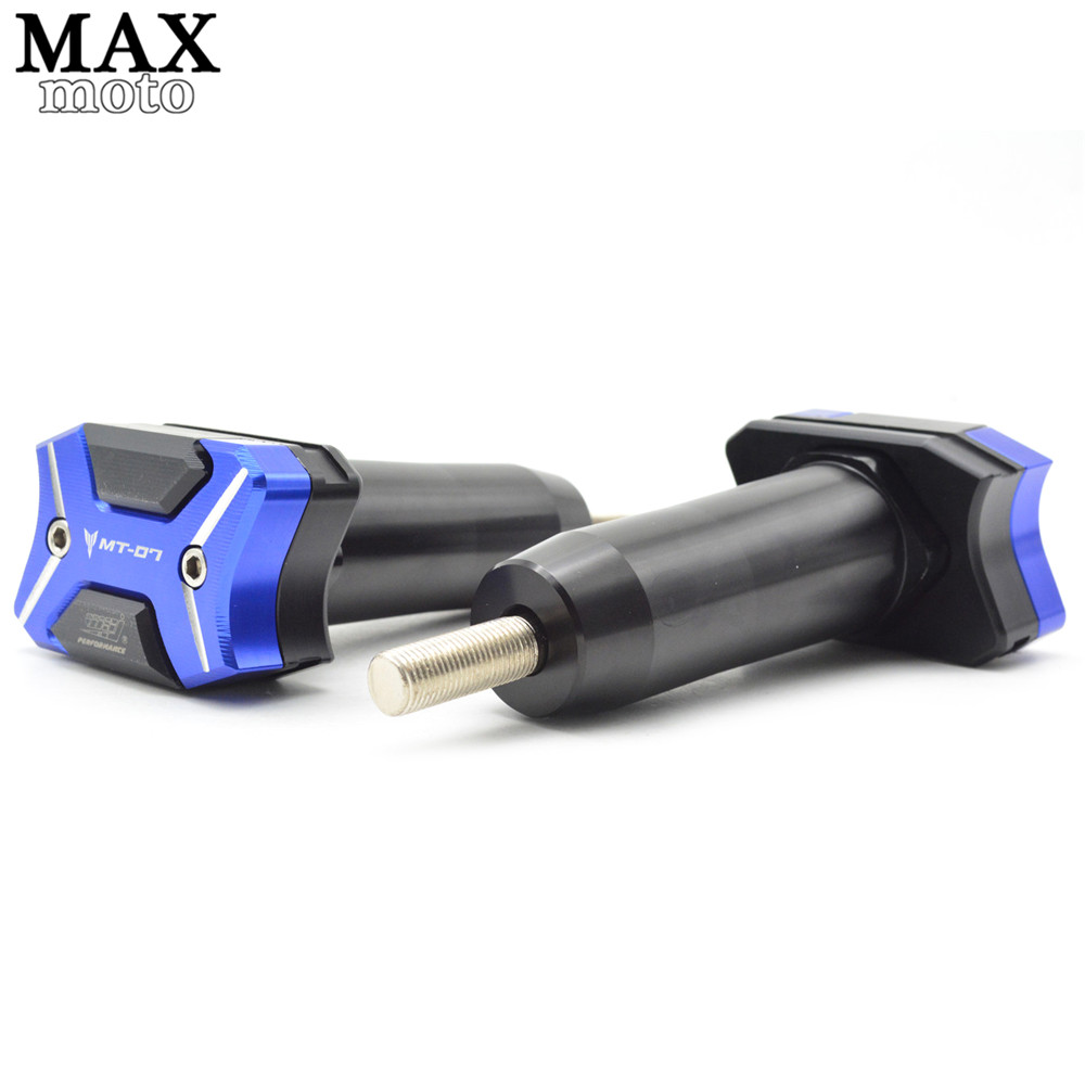 Motorcycle Frame Sliders Crash Engine Guard Pad Aluminium Side Shield Protector For Yamaha  MT-07 MT07 FZ-07 FZ07 2014 2015 2016 for yamaha mt 07 fz 07 mt07 fz07 2014 2016 motorcycle accessories cnc aluminum engine protector guard cover frame slider blue