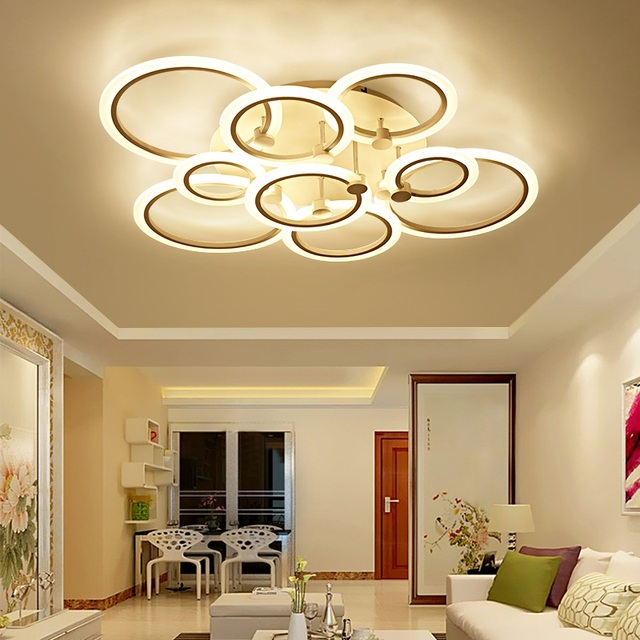 Creative ring hardware acrylic LED ceiling lamps Residential & Commercial Indoor Indoor Ceiling Lights  Lighting fixture