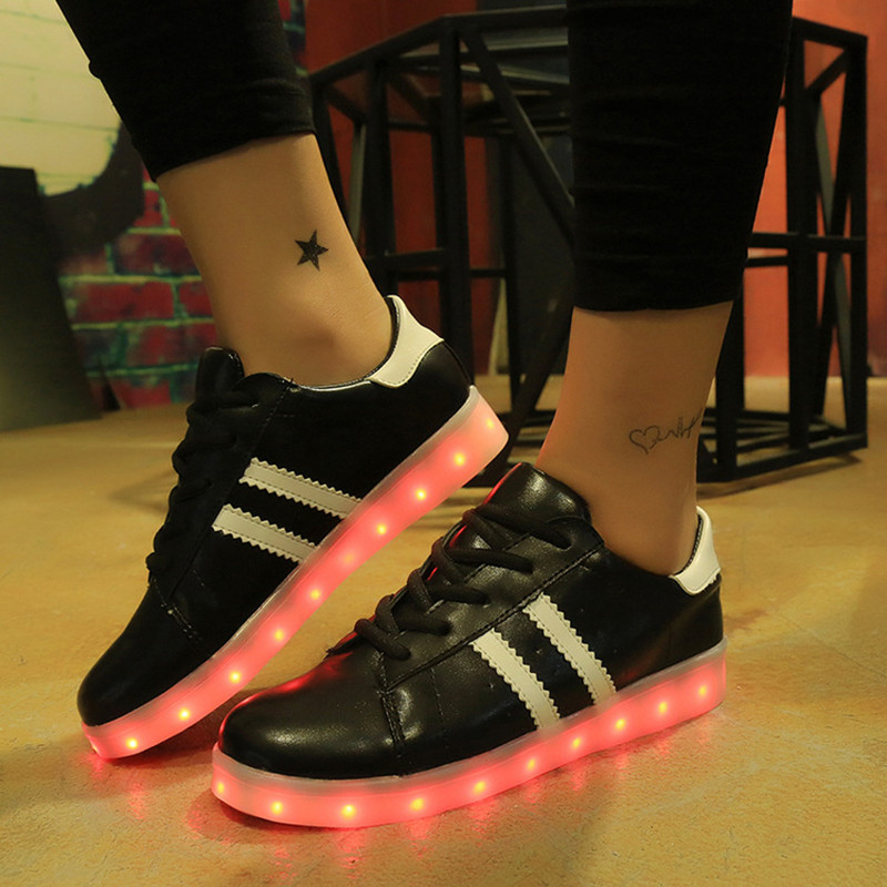 Unisex Luminous Shoes Led Lighted 2016 New Fashion Autumn Light Up Shoes For Adults Man Tenis