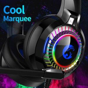 Image 5 - 7,1 Sound PS4 Gaming Headset casque Wired PC Stereo Kopfhörer Kopfhörer mit Mikrofon für Neue Xbox/Laptop Tablet Gamer