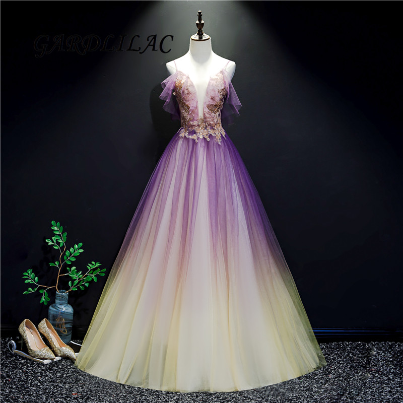 Spaghetti Straps Quinceanera Dresses Gradient Tulle Lace Appliques Masquerade Ball Gown Prom Formal Gowns Vestidos De 15 Anos