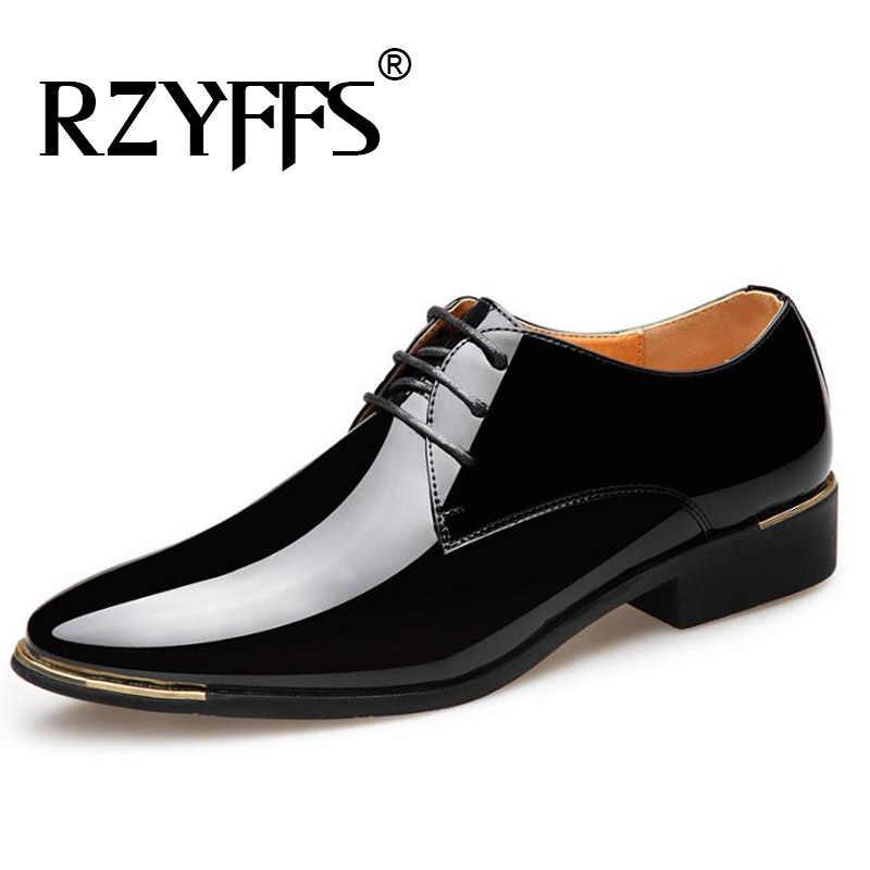 Yeni erkek kaliteli siyah deri yumuşak erkek elbise ayakkabı Patent deri ayakkabı beyaz düğün ayakkabı boyutu 38-48 A51-96