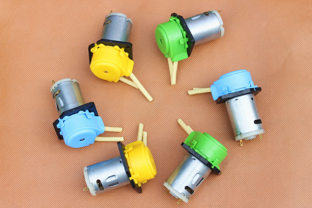 quality micro dosing pump 12V/24V colour mini peristaltic pump dosing pump for aquarium lab analytical water 0 to100 ml/min peristaltic pump v6 dispensing 2 channel 2 yz2515x 0 007 1740 ml min per channel ce certification one year warranty