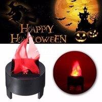 Mayitr Fałszywy Płomień Lampy LED Latarka Światła Ognia Garnek Miska Halloween Party Home Decor US Wtyczka/UE Wtyczka