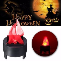 Mayitr LED Fake Flame Lamp Torch Light Fire Pot Bowl Halloween Party Home Decor US Plug