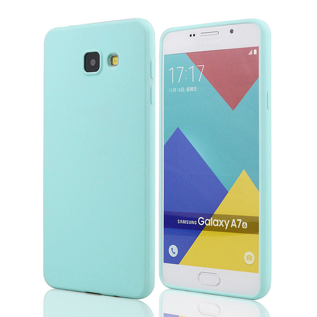 new concept 6ea07 4dbcc US $1.59 20% OFF|Case For Samsung Galaxy A7 2016 A710F A710 Ultra Slim  Silicone Solid TPU Skin Rubber Back Cover for Samsung A7 2016 Case  Glossy-in ...