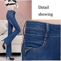 New Spring and Summer Female Casual Slim Wide Leg Pants Jeans White Washing Classic Vintage Skinny Long  Capris