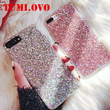 Hot Case For Samsung Galaxy J1 J3 J5 J7 2016 A3 A5 A7 2017 A8 A6 J6 2018 S8 S9 Plus S6 S7 Edge Silicone Glitter Crystal Sequins(China)